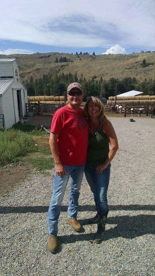 Me and my Hubby on our vacation last Summer...in Wintrop,WA