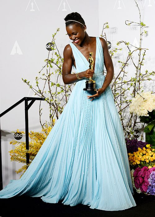"""""""When I look down at this golden statue, may it remind me and every little child that no matter where you are from, your dreams are valid. """" - Lupita Nyong'o wins Best Actress in a Supporting Role for """"12 Years a Slave"""" at the 86th Annual Academy Awards."""