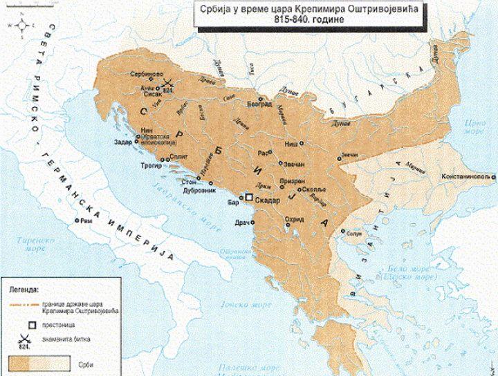 Srbija U Vreme Cara Krepimira Ostrivojevica 815 840 Godine