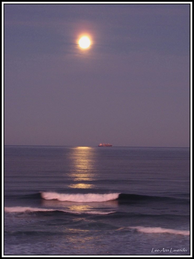 Nahoon Beach - Full moon April 2013