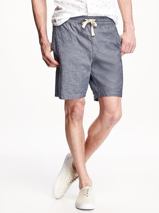 """Drawstring Chambray Jogger Shorts for Men (10"""") Product Image"""