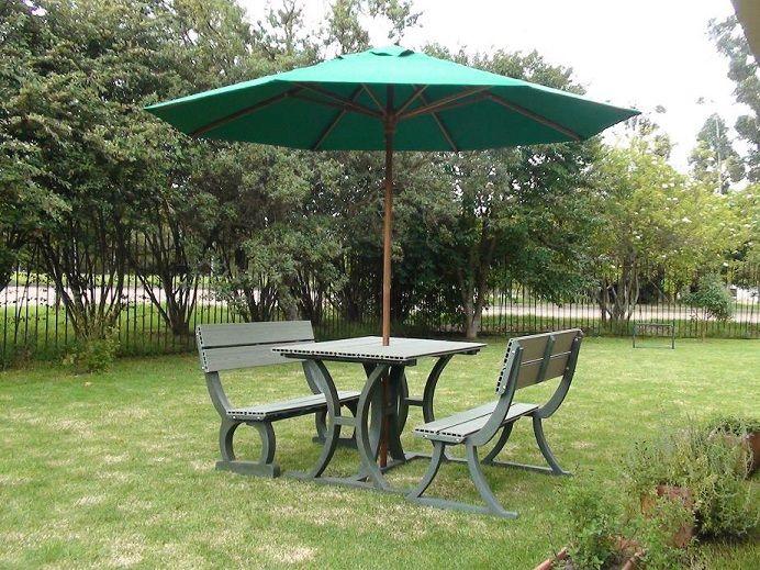 juego de mesas banca con parasol sombrillas 29 casas