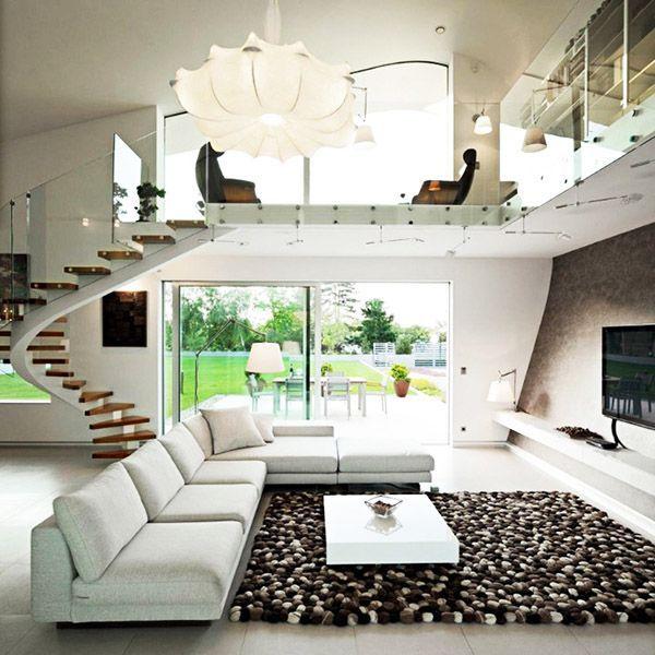 Imagenes De Casas Por Dentro Casas Modernas Interiores Interiores De Casa Sala Doble Altura