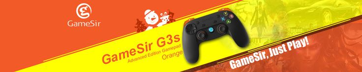 GameSir G3s 2.4Ghz Wireless Bluetooth Gamepad Controller Phone Controller for iOS Android TV BOX Smartphone Tablet PC(Orange)