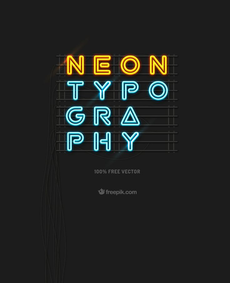Free Download – Neon Typography | Freepik Blog #graphicdesign