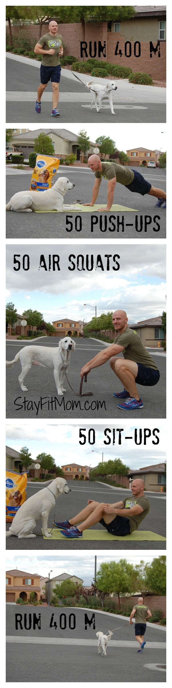 CrossFit workout with the family dog from StayFitMom.com! #PedigreeGives #ad