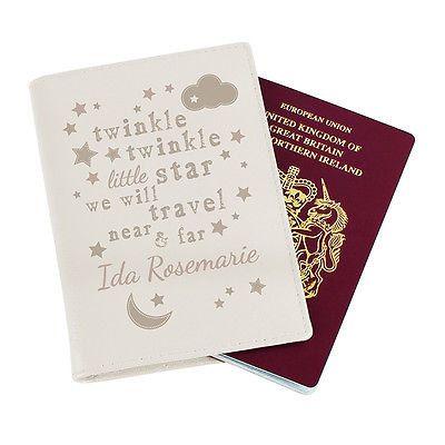 Personalised Baby / Child's Passport Cover от PendlesideInteriors