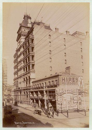 Hotel Australia, Sydney, ca. 1900-1910