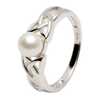 Celtic pearl ring ($60) -- Love the celtic knotting, and pearls are my birth stone.