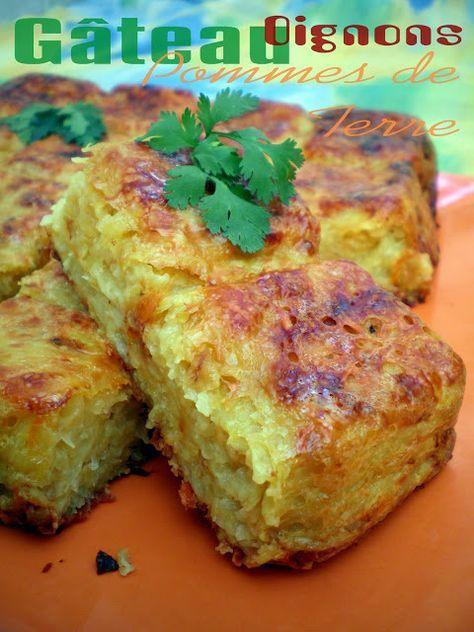 Gâteau de pommes de terre aux oignons allégé (4.5 pts ww)