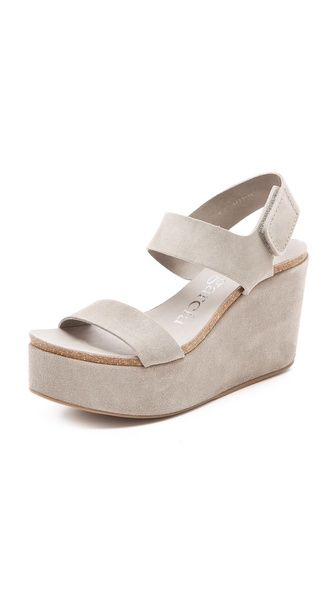 Want them. Got them. Pedro Garcia Dakota Wedge Sandals