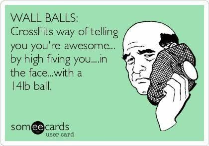 I hate wall balls. Worse than #burpees. (Yes - I did just say that!)
