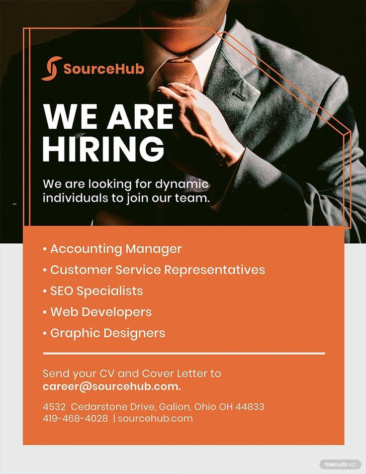 Free Recruitment Flyer Template in 2020 Recruitment