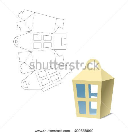 Retail Box With Blueprint Template Stock Vector Illustration 409558090 : Shutterstock