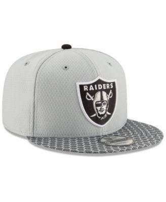 New Era Oakland Raiders Sideline 9FIFTY Snapback Cap - Black Adjustable