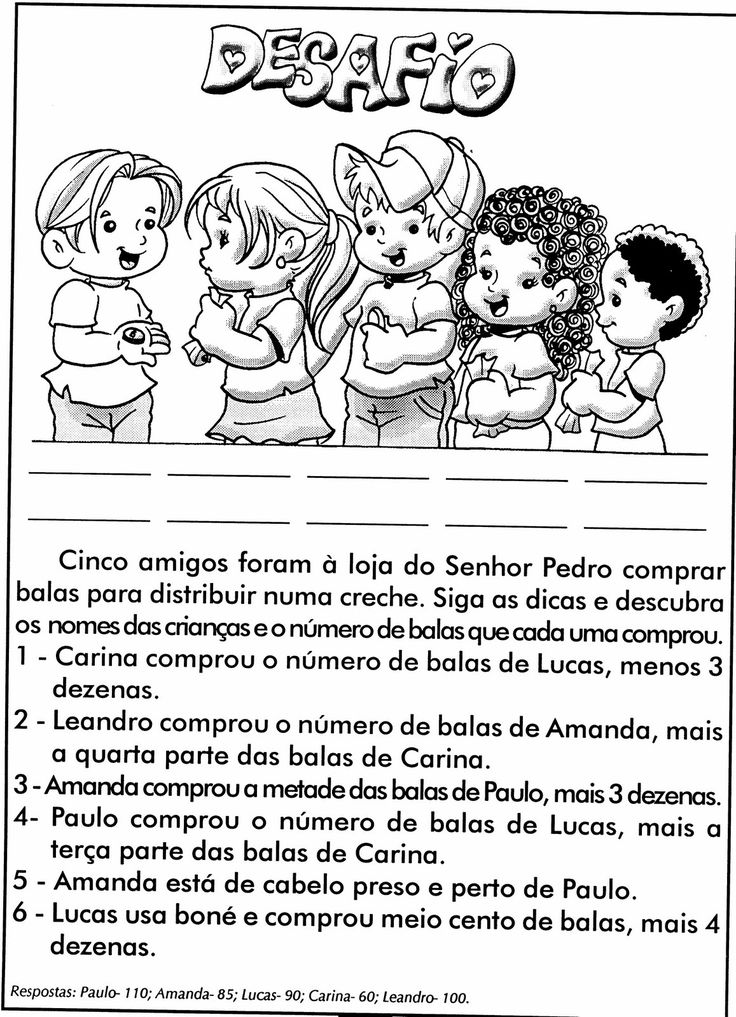 Blog Professor Zezinho : DESAFIOS MATEMÁTICOS. PROBLEMAS ILUSTRADOS. MODELOS DE ATIVIDADES DE MATEMÁTICA PARA 4º , 5º e 6º ANOS
