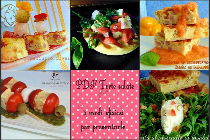 Cinque modi per servire una torta salata |Pdf scaricabile