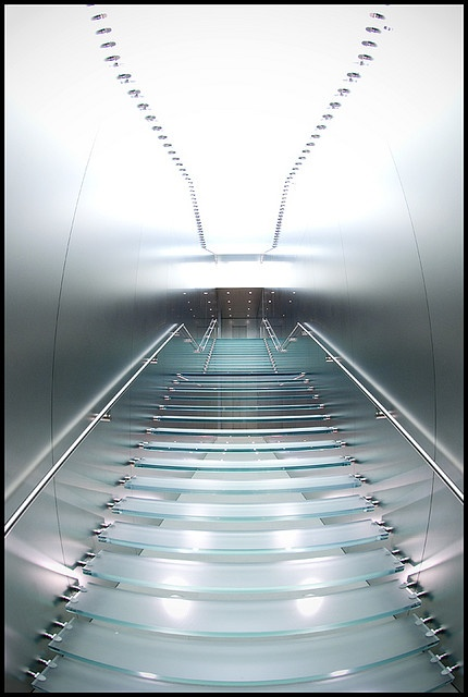 apple retail store glass stair glass silver simple minimalist apple new office design