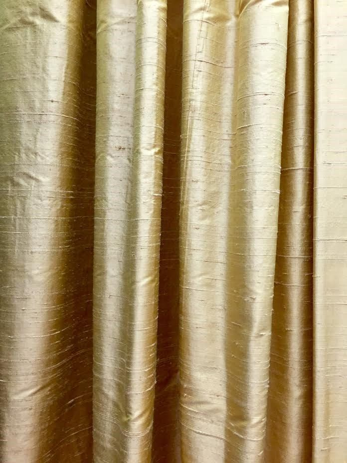Window treatments, silk curtain panels, silk drapes, drapery, raw silk, gold curtain, window curtains, blackout curtian, window panel, lined
