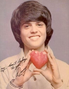 Donny Osmond... they call it puppy love!