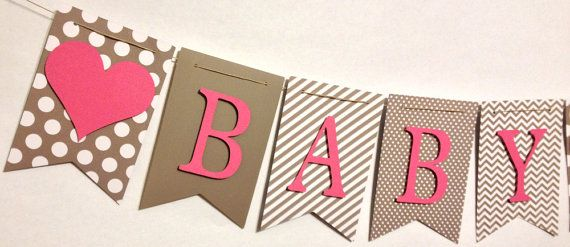 Baby Shower Banner Baby Name Banner Shower by FitchCraftCreations, $22.00 I like the shape of this banner
