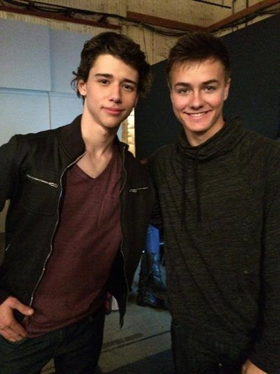 Peyton Myers & Uriah Shelton the two handsome boys on the set of Girl Meets World