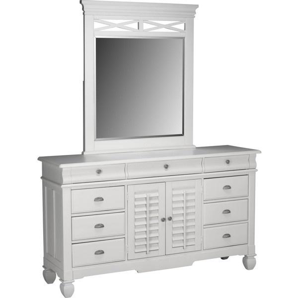 Plantation Cove White Dresser U0026 Mirror   American Signature Furniture  ($1,100) ❤ Liked On Polyvore | Food U0026 Stuff | Pinterest | Dresser Mirror,  Cove F.C. ...