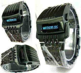 Jam Tangan Diesel LED Transformer Black only 520rb, sms 081802959999 pin bb 270C3124