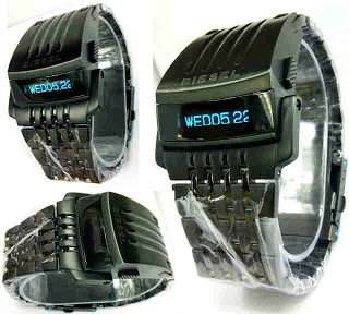 Jam Tangan Diesel LED Transformer Black only 520rb, sms 081802959999 pin bb 270C3124