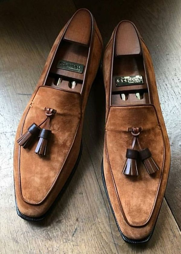 Corthay Dress Shoes Men Handcrafted Shoes Tassel Shoes
