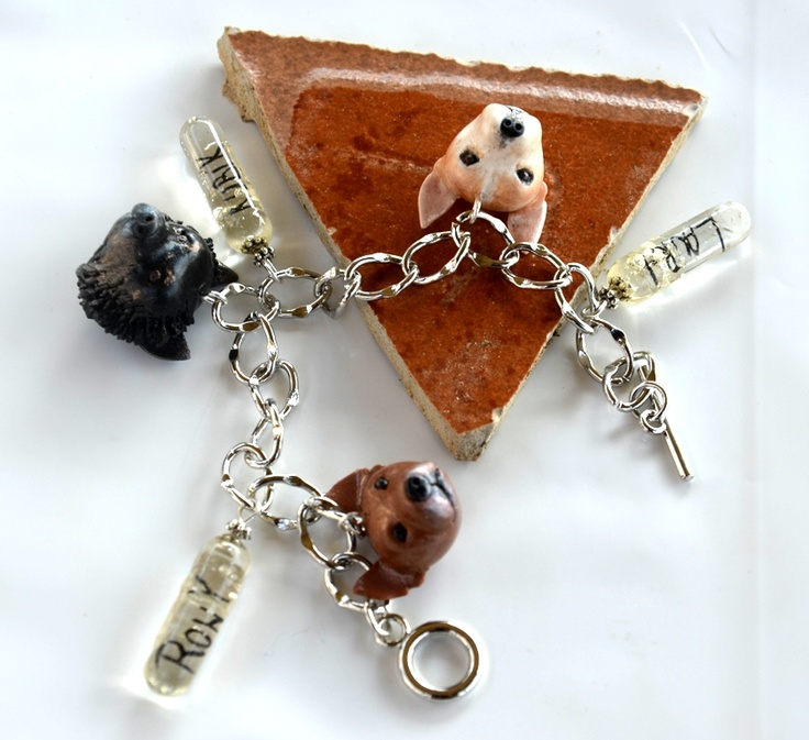 ...Chihuahua´s bracelet with 3 cute dogs with their names in the pills...