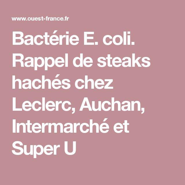 Bactérie E. coli. Rappel de steaks hachés chez Leclerc, Auchan, Intermarché et Super U