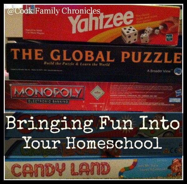 Bringing Fun Into Your Homeschool