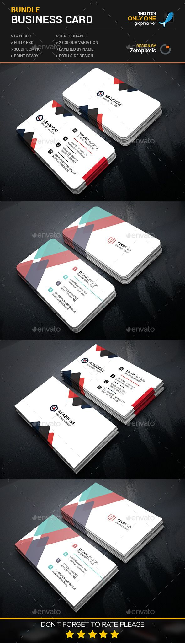 Abstract Corporate Business Card Bundle Template #print #design Download: http://graphicriver.net/item/abstract-corporate-business-card-bundle/12004099?ref=ksioks
