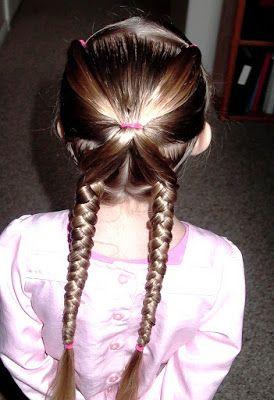 """Shaunell's Hair: Little Girl's Hairstyles: """"X"""" braid hairdo 7-10 min"""