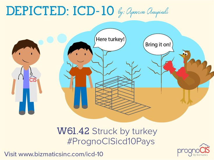 ICD-10 Humor: Struck by turkey