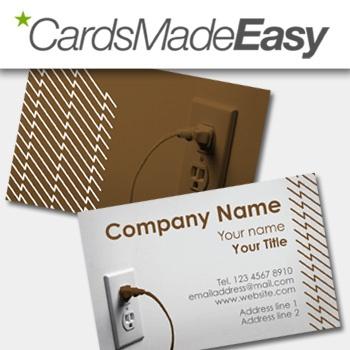 Some electrifying business card templates for electricians.   Design No. E001