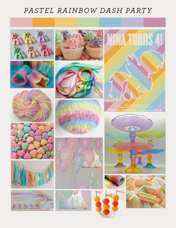 victorious archive: PASTEL RAINBOW DASH PARTY STYLE SHEET