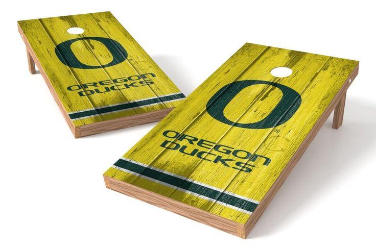 Oregon Ducks Cornhole Board Set - Vintage
