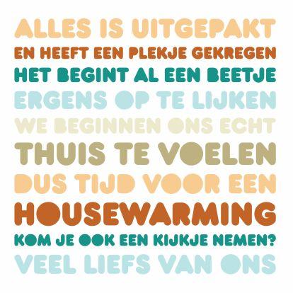 Uitnodiging Housewarming Letters 1
