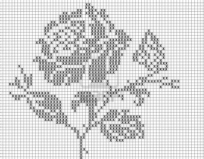 filet crochet pattern for Stock Photo
