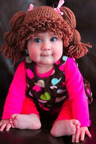 These Cabbage Patch Kid Wigs for Babies crack me up!