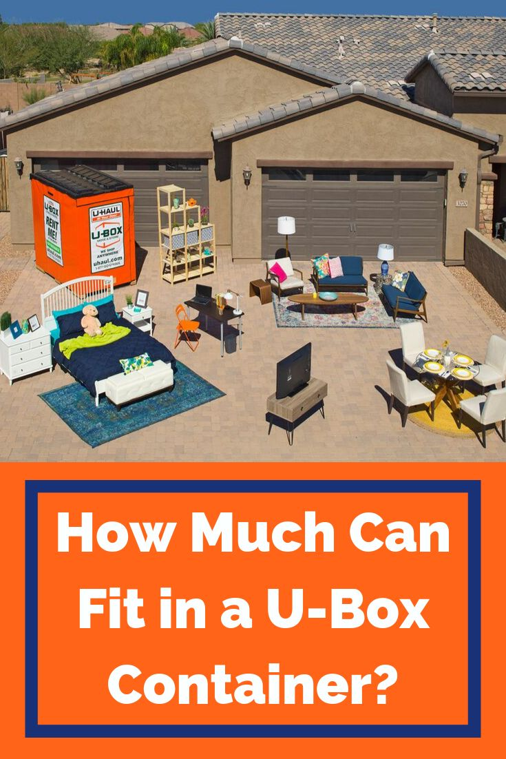 How much can you fit in a ubox container moving truck