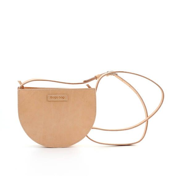 Natural brown crossbody bag small leather shoulder bag