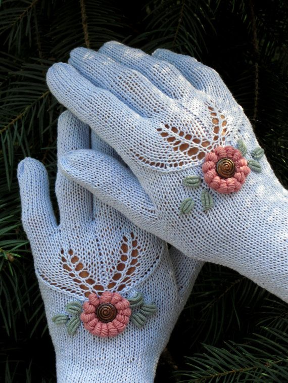 """Vintage Victorian Lace Gloves - """"Feeling happy""""  by Dom Klary"""