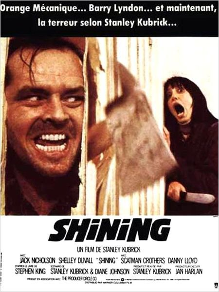 Le 23 mai 1980 aux Etats-Unis, le 16 octobre 1980 en France, sort le film Shining de Stanley Kubrick avec Jack Nicholson et Shelley Duvall.