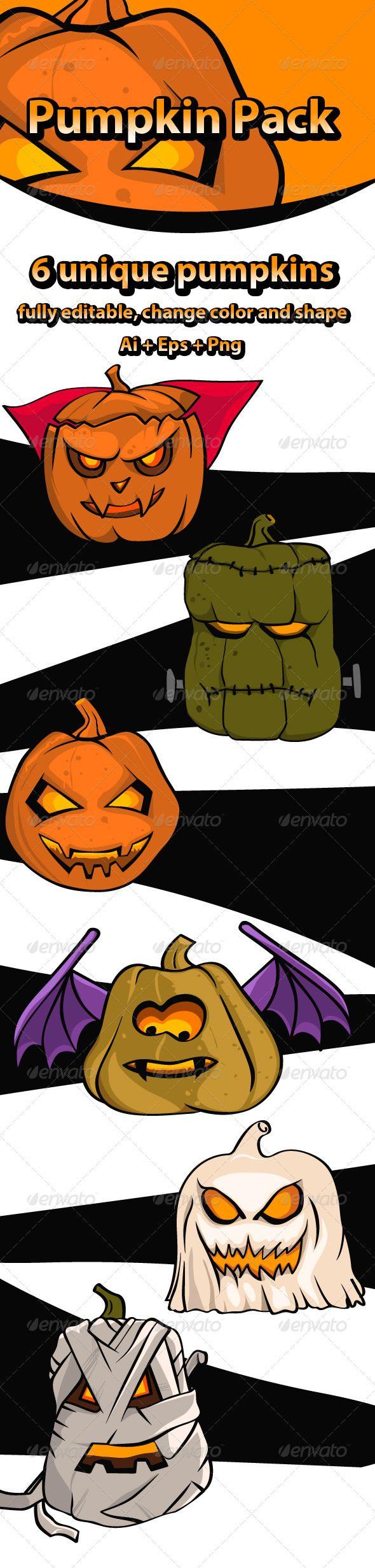 Pumpkin Pack - Characters Vectors