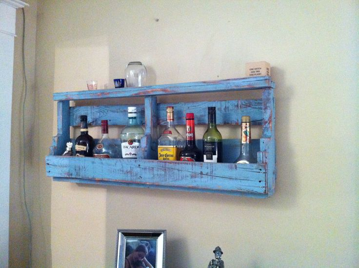 Pallet booze rack.  Made for 5th wedding anniversary.