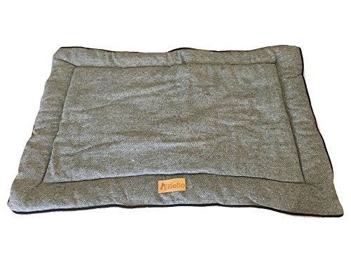 From 17.95 Ellie-bo Reversible Tweed And Grey Faux Fur Mat Bed For Extra Large 42 Inch Dog Puppy Cages And Crates