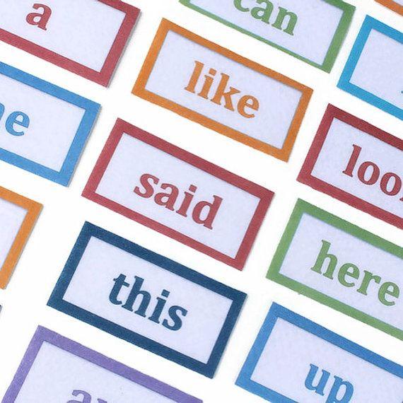 Sight Words Felt Set - Preschool Learning, Montessori Materials, Educational Supplies, Teaching Aid, Sight Words Flash Cards, Homeschool